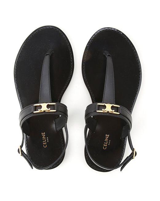 Céline Black Sandals For Women