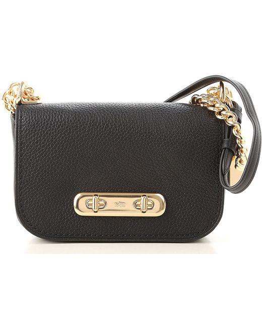 COACH - Black Shoulder Bag For Women - Lyst ... 4edffce98ffe4