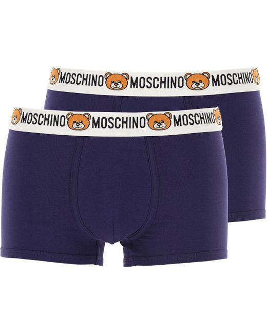 Caleçon Boxer Homme Moschino pour homme en coloris Blue