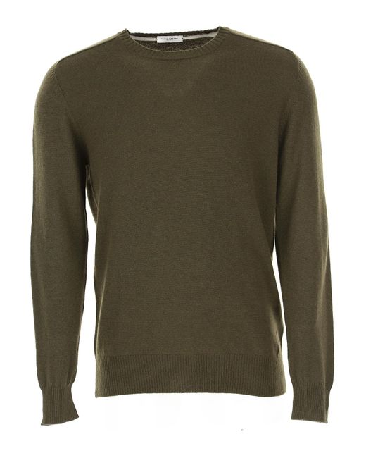 Paolo Pecora Green Sweater For Men Jumper for men