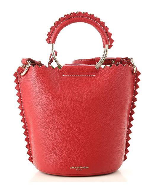 Sara Battaglia - Red Shoulder Bag For Women On Sale - Lyst