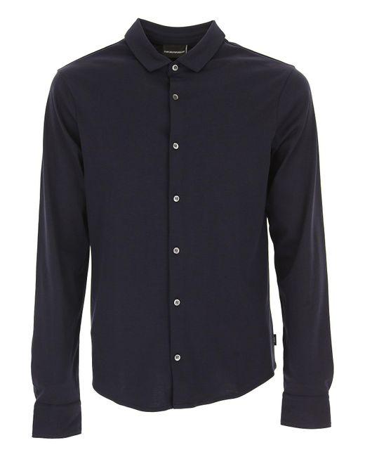 Emporio Armani - Blue Clothing For Men for Men - Lyst