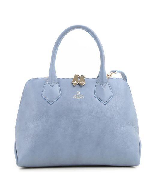 Vivienne Westwood Blue Top Handle Handbag