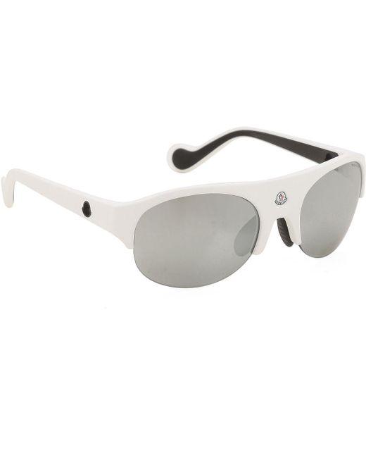 Moncler White Sunglasses