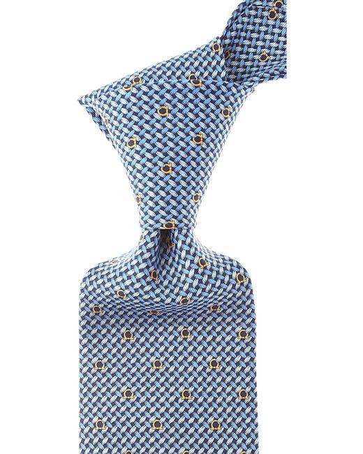 Cravates Pas cher en Soldes Ferragamo pour homme en coloris Blue