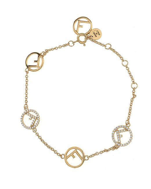 Fendi - Metallic Bracelet For Women On Sale - Lyst