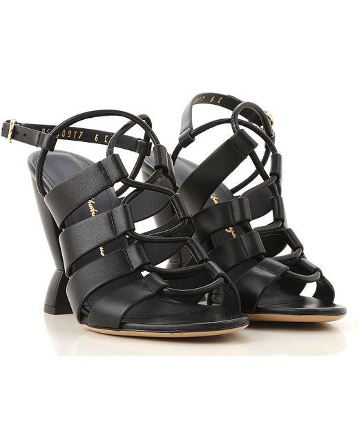 Ferragamo Black Sandalen für Damen Günstig im Outlet Sale