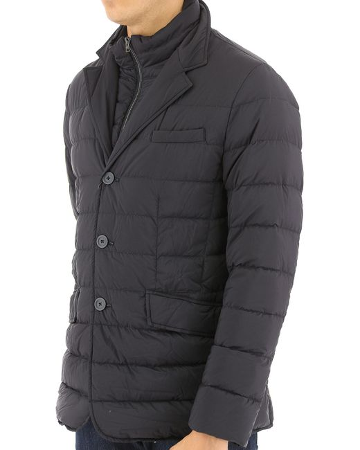a7c16c1548d8 Lyst - Herno Blue Down Jacket With Pocket in Blue for Men - Save ...