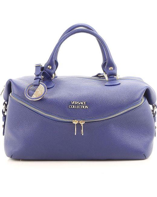 0179837cdb1e Versace - Blue Tote Bag On Sale - Lyst ...