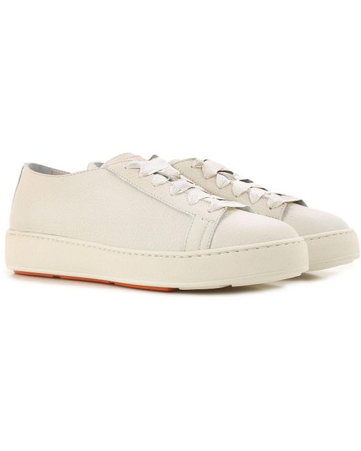 Santoni - White Sneakers For Women - Lyst