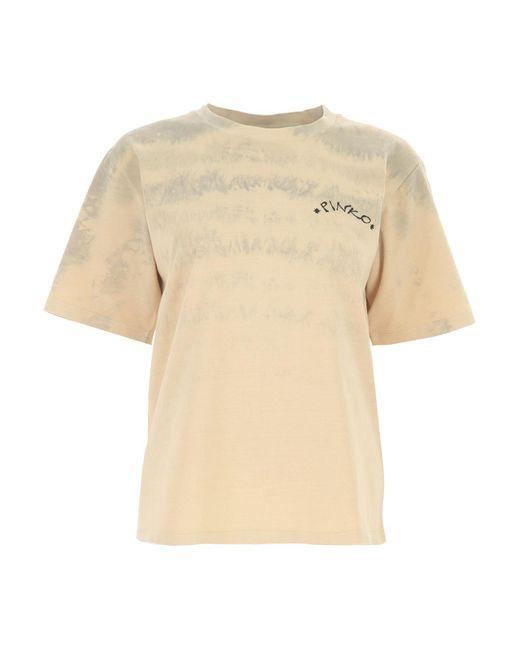Camiseta de Mujer Baratos en Rebajas Pinko de color Natural