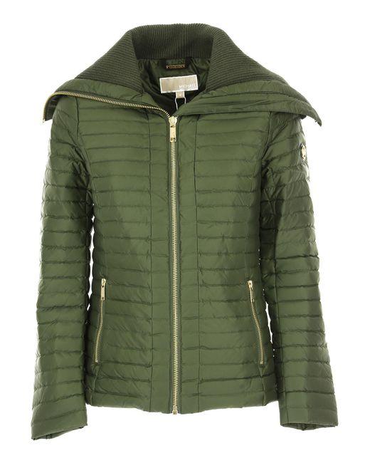 Michael Kors - Green Down Jacket For Women - Lyst