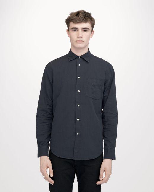 Rag bone standard issue beach shirt in blue for men lyst for Rag and bone mens shirts sale