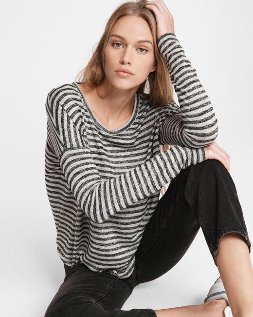 Rag & Bone Gray The Knit Stripe Top