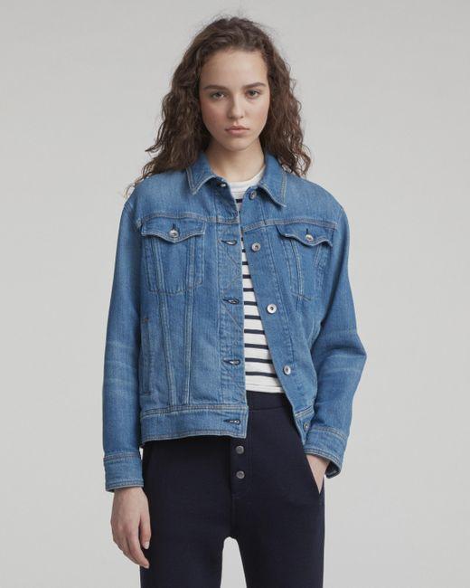 Rag & Bone - Blue Oversized Jacket - Lyst