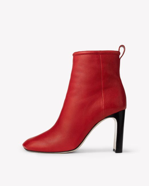 Rag & Bone - Red Ellis Leather Ankle Boots - Lyst
