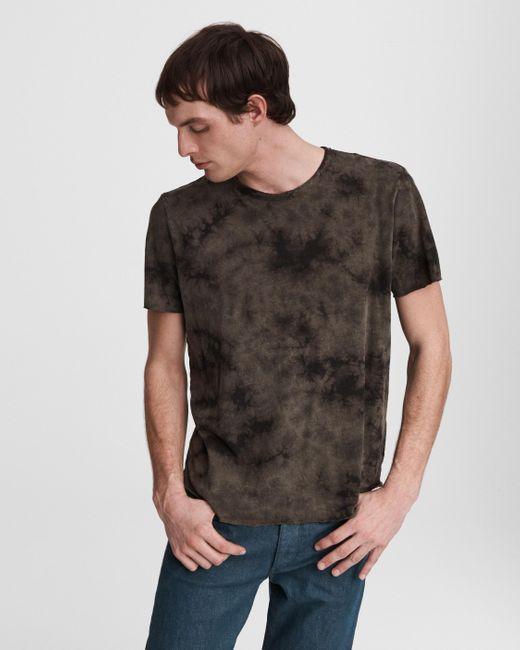 Rag & Bone Multicolor Haydon Tie Dye Cotton Linen Tee Relaxed Fit T-shirt for men