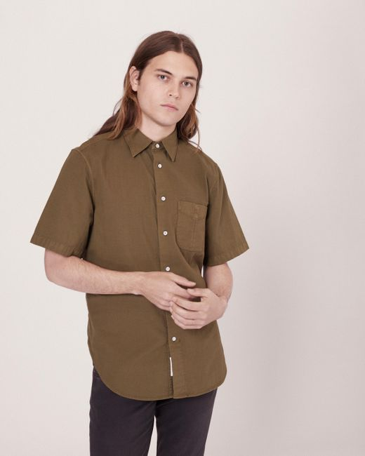 Rag & Bone | Green Standard Issue Short Sleeve Beach Shirt for Men | Lyst
