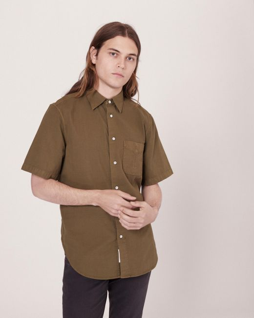 Rag & Bone - Green Standard Issue Short Sleeve Beach Shirt for Men - Lyst