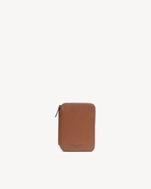 Rag & Bone | Brown Small Zip Around Wallet | Lyst