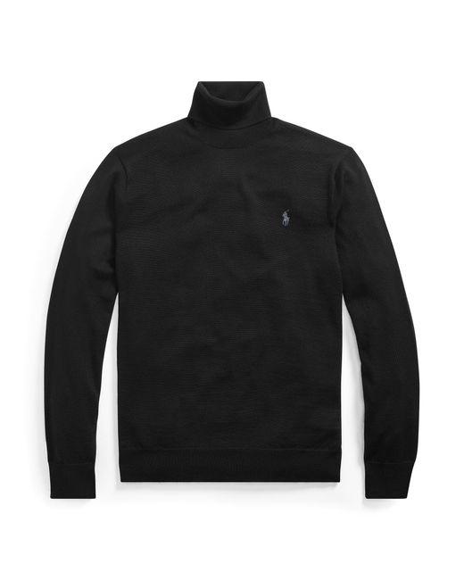 Pull lavable en mérinos Polo Ralph Lauren pour homme en coloris Black
