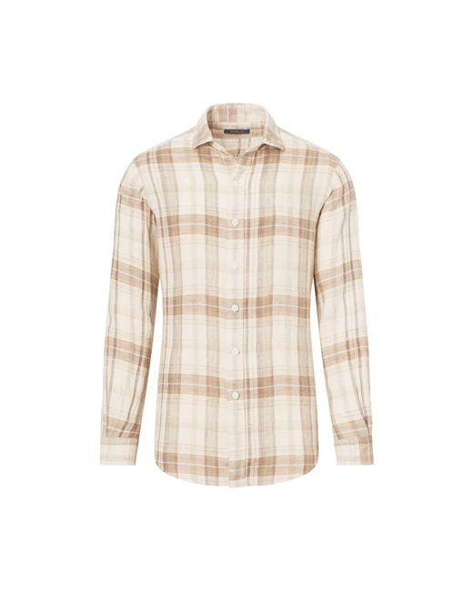 Polo Ralph Lauren - Natural Plaid Linen Sport Shirt for Men - Lyst