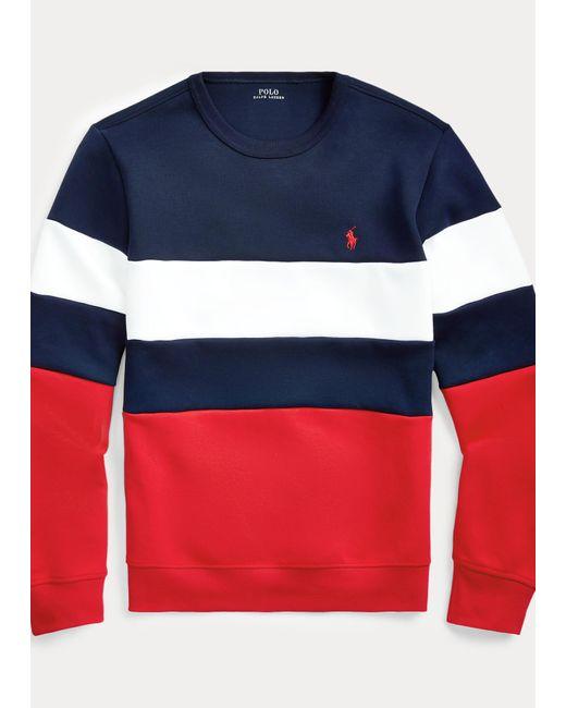 Polo Ralph Lauren Blue Colour-blocked Sweatshirt for men