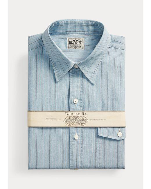 Camicia Eli a righe Slim-Fit di RRL in Blue da Uomo