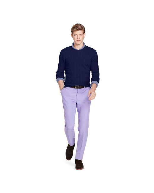 Polo Ralph Lauren   Blue Cable-knit Cashmere Sweater for Men   Lyst