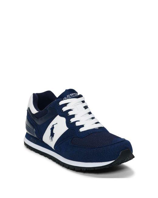 Ralph Lauren | Blue Slaton Tech Pony Sneaker for Men | Lyst