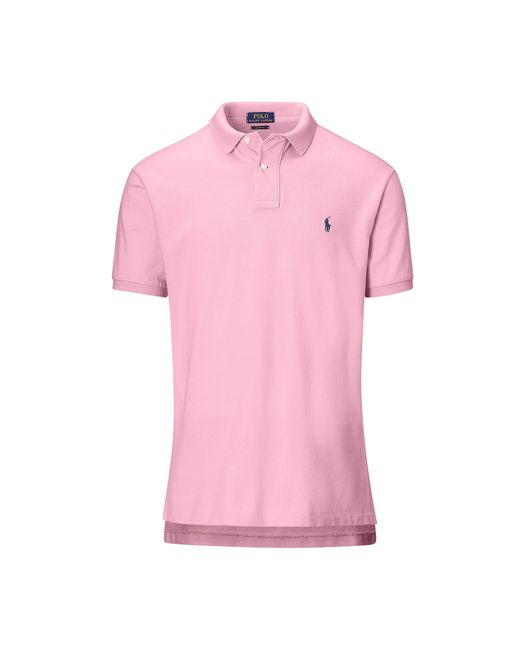 Pink Pony | Pink Classic Weathered Mesh Polo for Men | Lyst