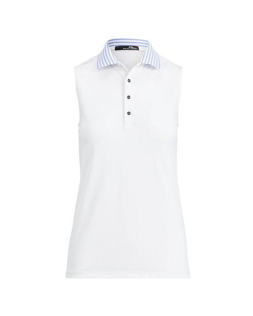 Ralph Lauren | White Stretch Sleeveless Polo Shirt | Lyst