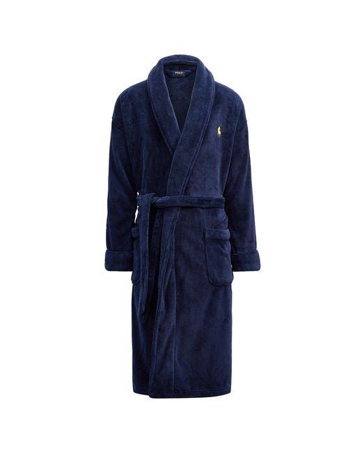 Polo Ralph Lauren | Blue Microfiber Shawl Collar Robe for Men | Lyst