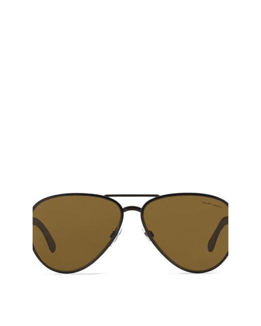Ralph Lauren | Metallic Safari Pilot Sunglasses for Men | Lyst