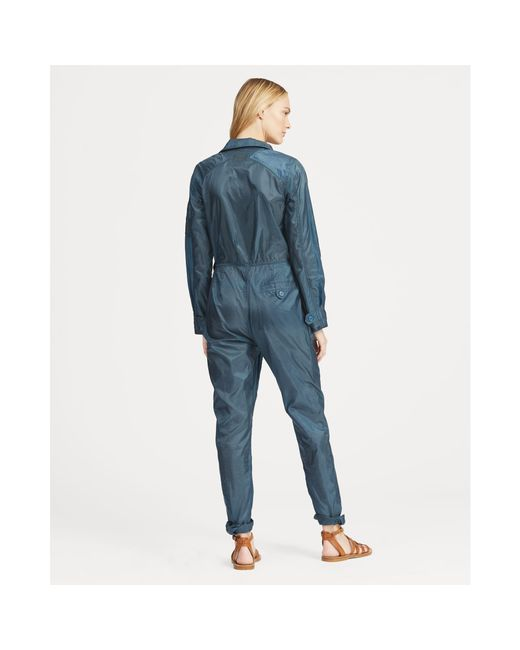 0b5801ceb0 ... Polo Ralph Lauren - Blue Ripstop Flight Jumpsuit - Lyst ...