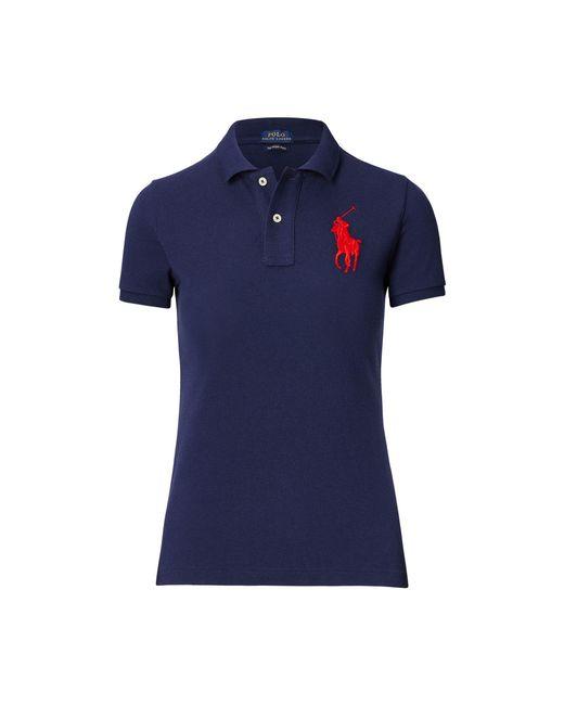 Polo Ralph Lauren - Blue Skinny Fit Big Pony Polo Shirt - Lyst