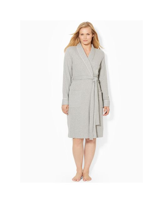 Ralph Lauren | Gray Short Shawl-collar Robe | Lyst