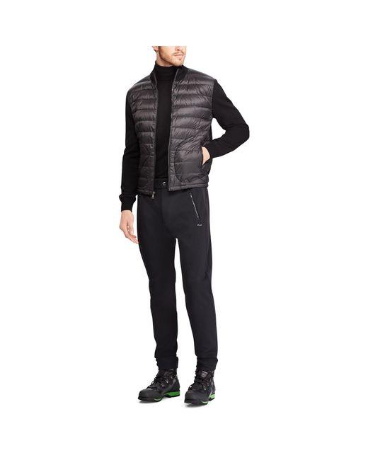 Ralph Lauren Purple Label - Black Rlx Hybrid Down Jacket for Men - Lyst