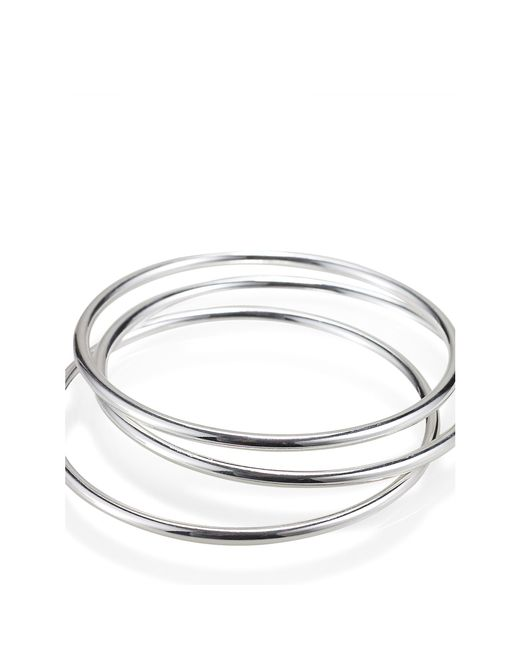 Pink Pony | Metallic Silver-plated Bangle Set | Lyst