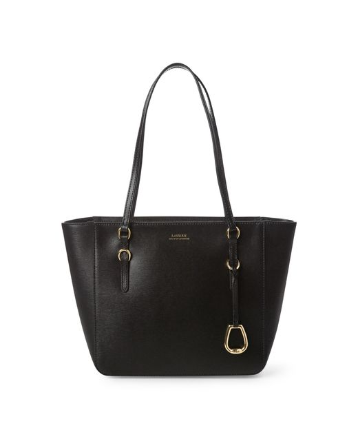 Ralph Lauren Black Leather Oxford Tote
