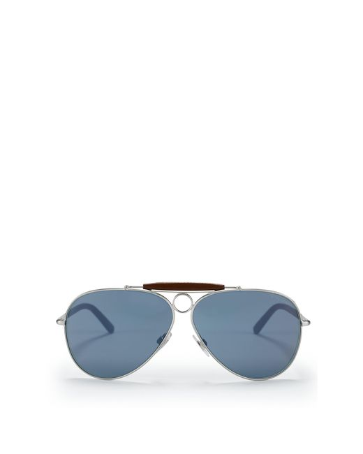 Ralph Lauren   Metallic Nautical Pilot Sunglasses for Men   Lyst