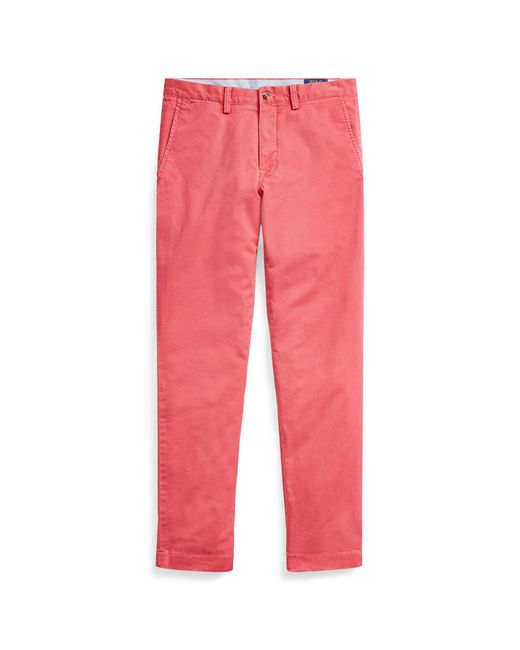 Polo Ralph Lauren - Red Stretch Straight Fit Chino for Men - Lyst
