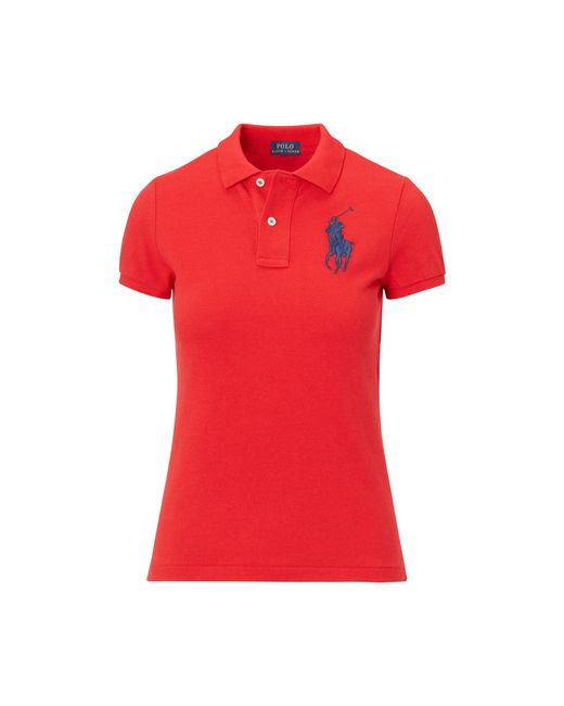 Polo Ralph Lauren | Red Skinny-fit Polo Mit Big Pony | Lyst
