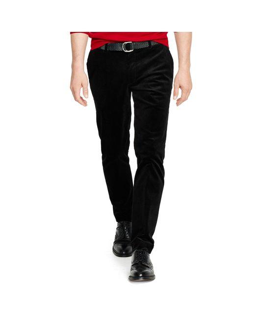 Polo Ralph Lauren | Black Stretch Slim-fit Corduroy Pant for Men | Lyst