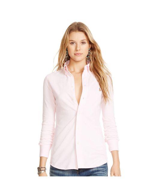 Polo Ralph Lauren | Pink Knit Oxford Shirt | Lyst