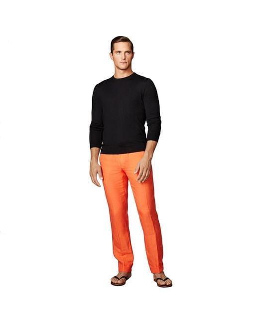 Ralph Lauren Purple Label | Black Cashmere Crewneck Sweater for Men | Lyst