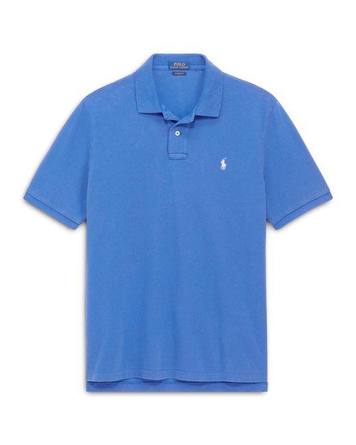 Polo Ralph Lauren - Blue Custom Slim Fit Mesh Polo for Men - Lyst
