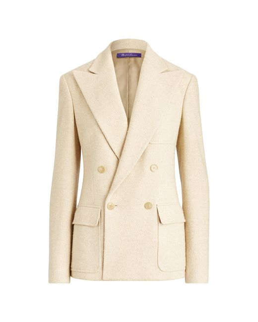 Ralph Lauren Natural Caley Herringbone Jacket