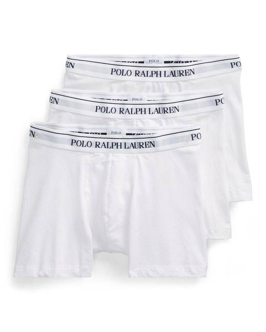 Lot de 3 slips boxers Polo Ralph Lauren pour homme en coloris White