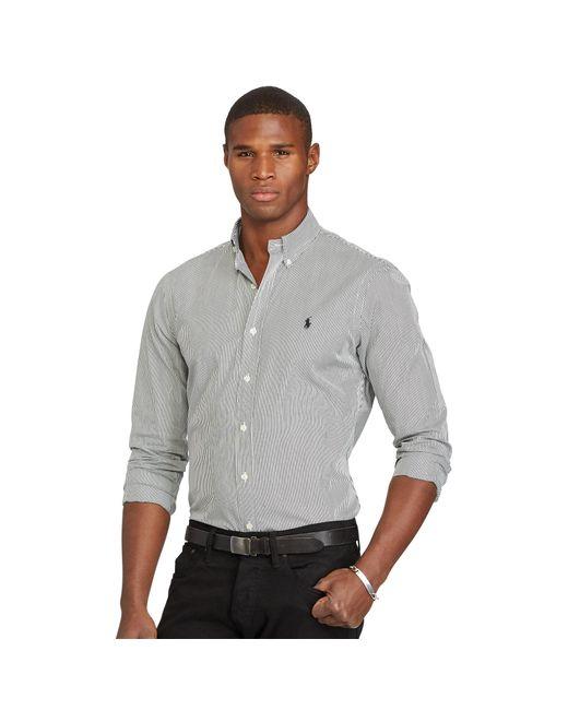 Polo Ralph Lauren | Black Slim-fit Striped Poplin Shirt for Men | Lyst